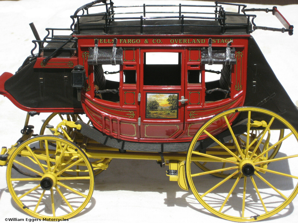 1865 wells fargo stagecoach side and top views