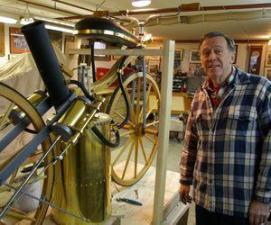 Bill Eggers of Goshen and his Roper replica_Bud Wilkinson_Republican-American