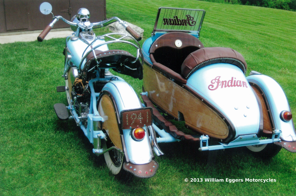 1941 indian with sidecar william eggers motorcycles. Black Bedroom Furniture Sets. Home Design Ideas