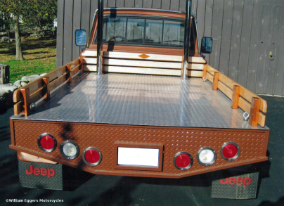 Bill Eggers: 1980 Jeep Custom Flatbed Pickup Rear View
