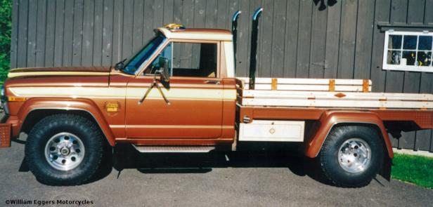 Bill Eggers: 1980 Jeep Custom Flatbed Pickup