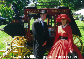 Bill and Cathy Eggers with stagecoach