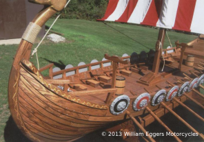 Bill Eggers: Gokstad Viking Ship Closeup
