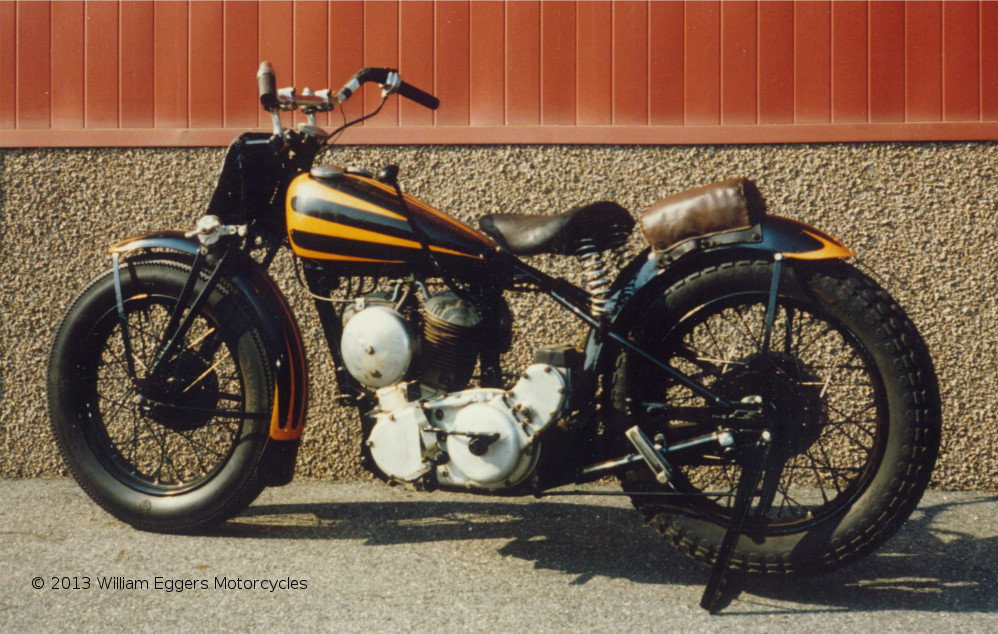 Bill Eggers: 1939 Indian Scout Racer From Left