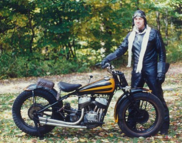 Bill Eggers With 1939 Indian Scout Racer