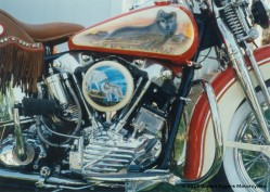 Bill Eggers: 1947 Harley Davidson Knucklehead Right Side