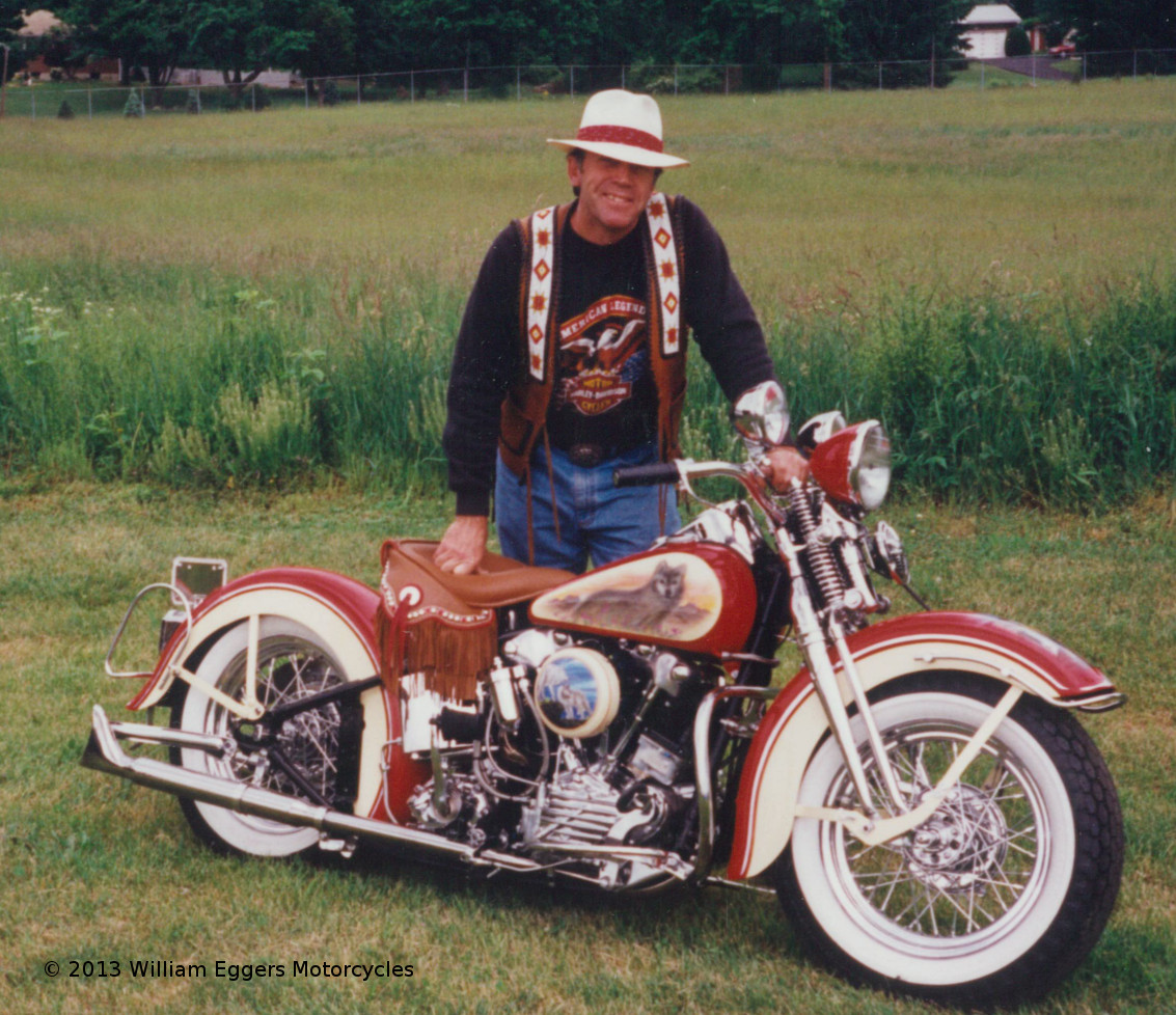 Bill Eggers With 1947 Harley Davidson Knucklehead