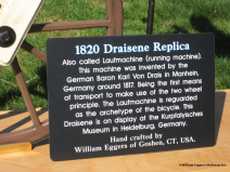 Bill Eggers: Image of 1820 Draisene Replica - Sign