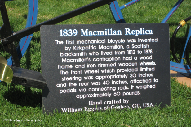 Bill Eggers: Image of 1839 Macmillan Replica - Sign
