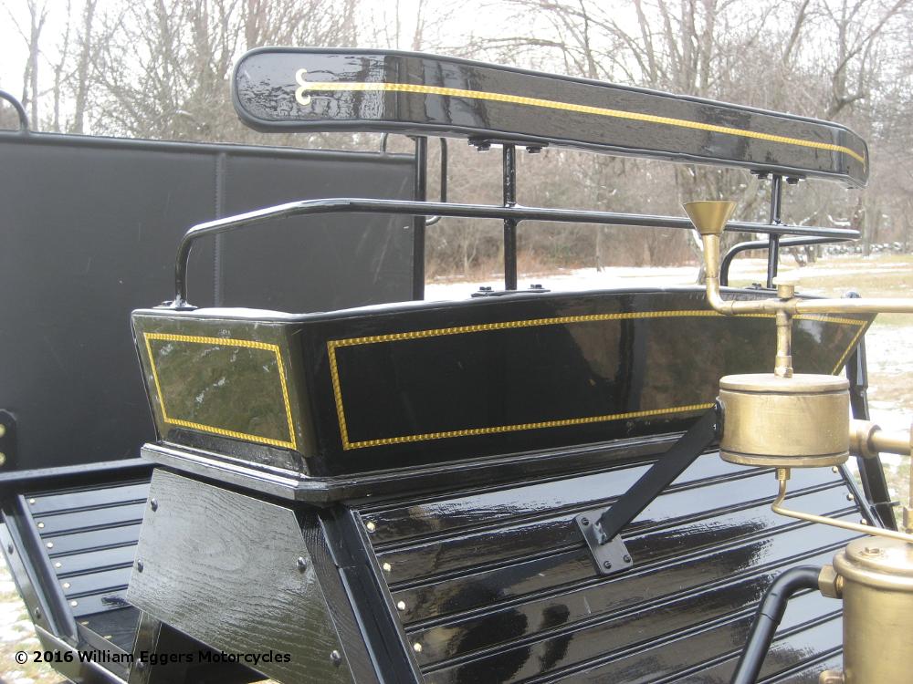 Back of seat closeup of Photo of goldleaf Daimler Benz replica