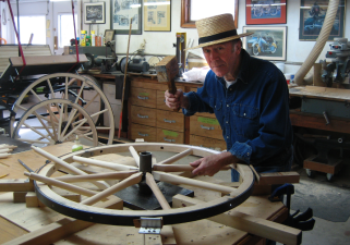 Bill with Amish Wheel