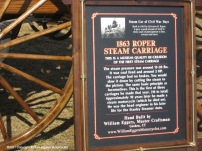 Sign - 1863 Roper Steam Carriage